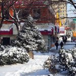 [UNVERIFIED CONTENT] Snow on Broadway with Christmas Tree in Washington Heights, New York, NY